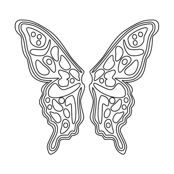 Free Angel Wings Printable Fairy Wings Coloring Sheet