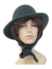 80s -Preston of York- Womens dark gray background wool ...
