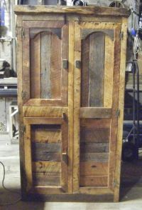 Hunting Cabinet by Barn Wood Furniture. It has a bar for ...