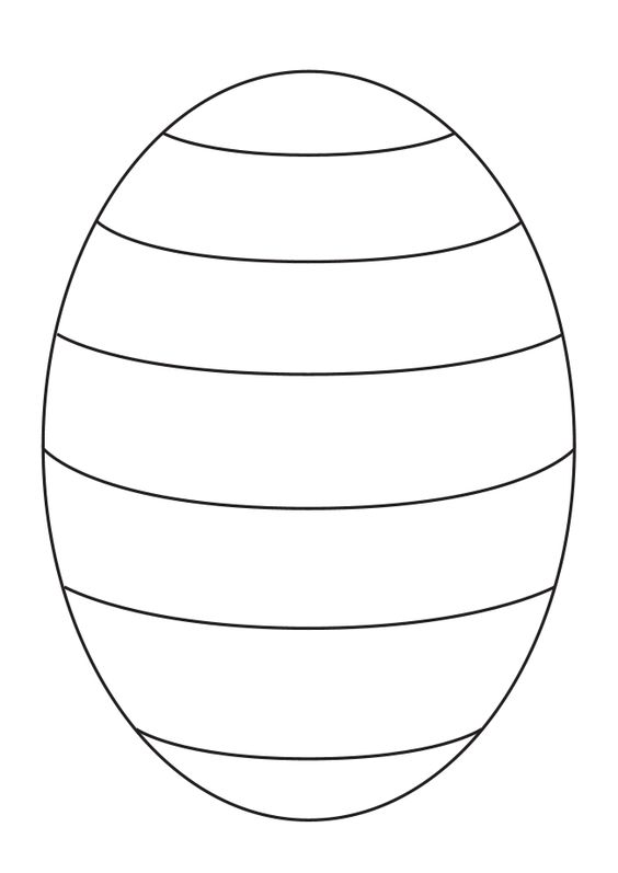 Blank Easter egg template to create your own patterns for