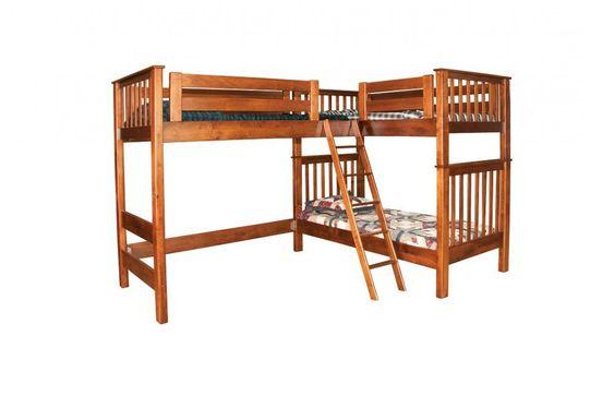 L Shaped Loft Jakes Amish Furniture LB7482 L Shaped