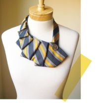 DIY pleated necktie necklace | Altered Wear | Pinterest ...