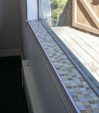 glass tile window sill | mosaic tile window sill 1 by ...