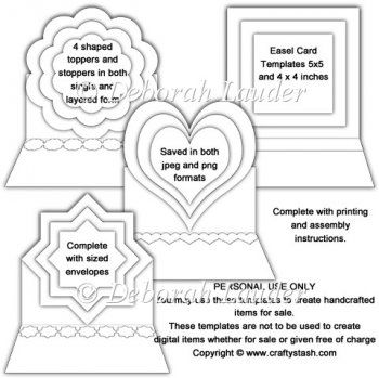 Easel cards, Card templates and Easels on Pinterest