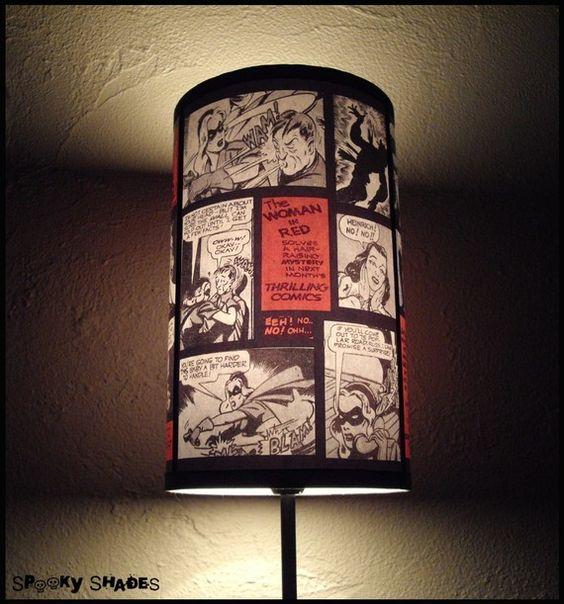 "Comics Lamp Shade Lampshade ""Comic Strip"""