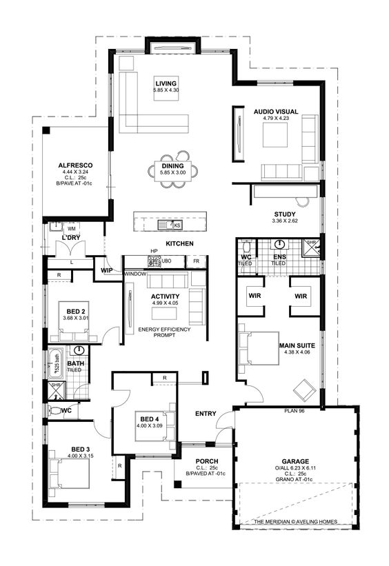 Floor Plan Friday: 4 bedroom, theatre, activity and study