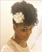 elegant updo natural hairstyles