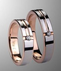 Wedding band sets, Couple and Products on Pinterest