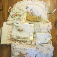 Classic winnie the pooh crib nursery bedding & diaper ...