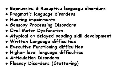 Expressive & Receptive language disorders Pragmatic