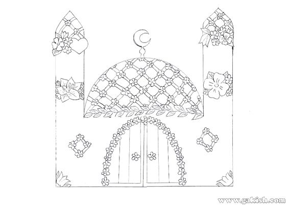 Math For Coloring Pages Mosque Islamic Muslims Sjpg
