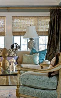 Turquoise & Gold living room | Tiffany blue's, Sea Foam ...
