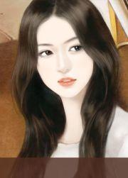 intense black hair painting girl