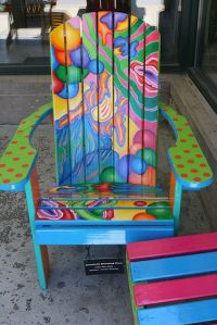 love a bright painted chair..... I so want these chairs ...