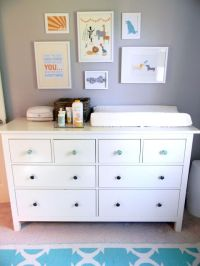 Hemnes dresser by Ikea to double as changing table ...