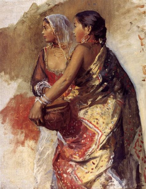"Edwin Lord Weeks, ""Two Nautch Girls"" (sketch). Follow Arcadia Art on WordPress."