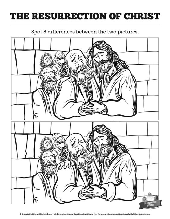 Jesus' Resurrection Kids Spot The Difference: Can your