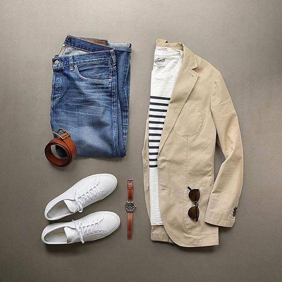 Outfit tenis blancos para hombre