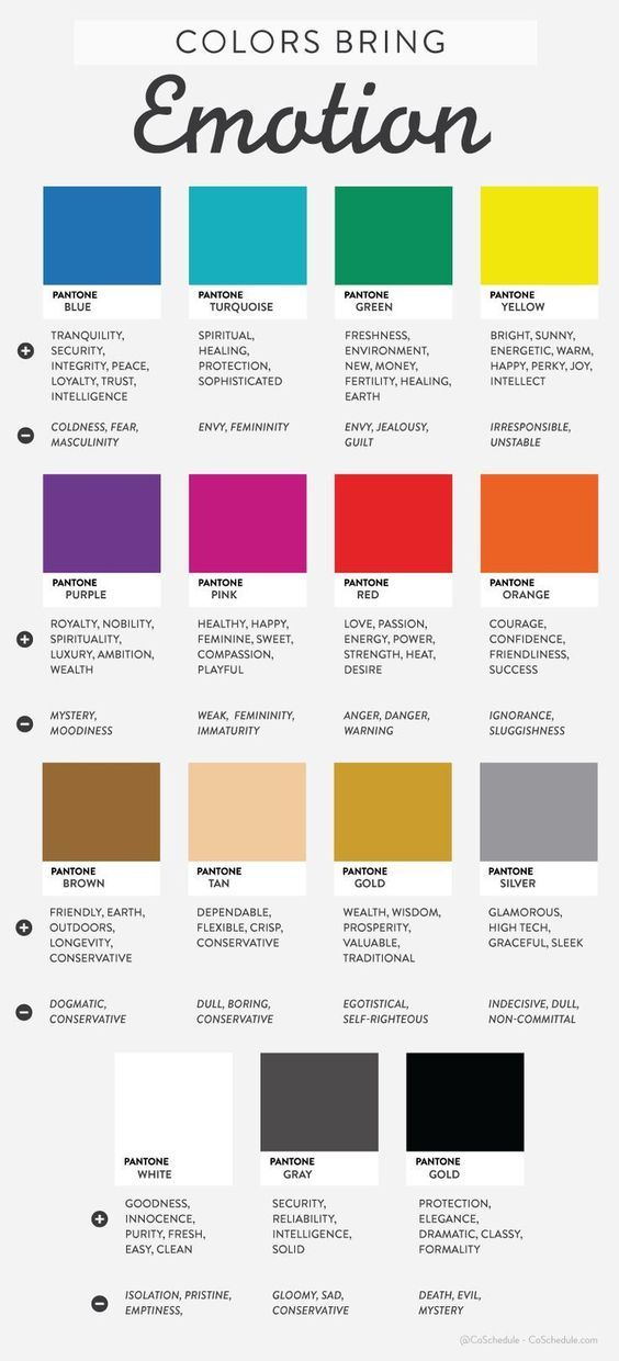 The emotions in colors! Keep these in mind the next time you design :) #infographic: