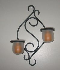 Collectible Retired PartyLite Scroll Sconce Candle Holder ...