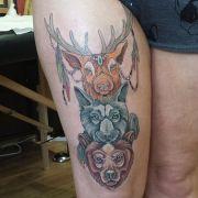 animal totem pole tattoo tattoos