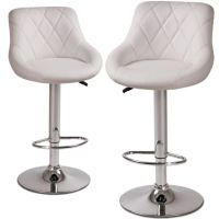 Miadomodo LBHK04 2 Height-Adjustable Faux Leather Bar ...