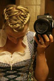 """braided hair classical """"dirndl"""""""