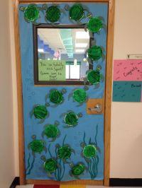 Ocean themed classroom - Paper plate sea turtle door ...