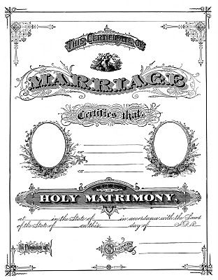 Wedding, Marriage certificate and Clip art on Pinterest