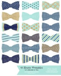 Bowties, Navy and Mint on Pinterest