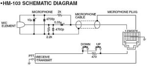 Wiring Diagram For I HM 103 Microphone Schematic | free schematics | Pinterest