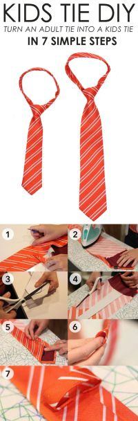 Kid, Neckties and Projects on Pinterest