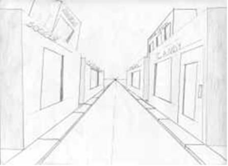 Perspective, One point perspective and Perspective drawing