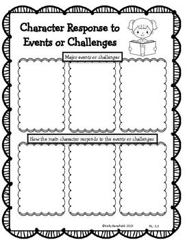 Reading Literature Graphic Organizers for 3rd Grade. Newly
