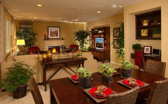 Dining Room Living Room Super warm and inviting I love it  For the Home  Pinterest
