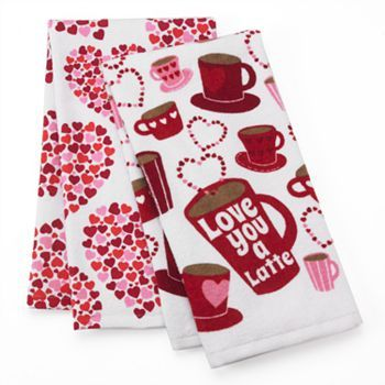 Valentine Day Love Latte Kitchen Towels Kohls