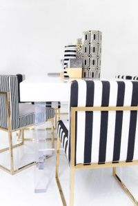 007 Dining Chair in Black and White Stripes   Beautiful ...