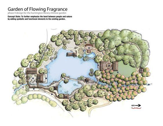 Chinese Garden Plan Поиск в Google DRAWING Pinterest