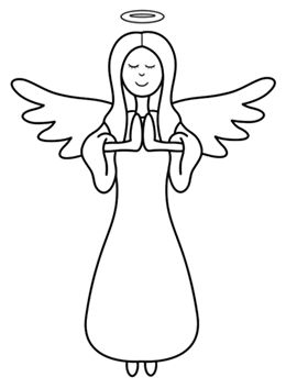 Christmas Angel Drawingcartoon Angel Step By Step Drawing