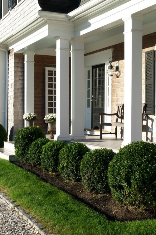 porches crushed stone and columns