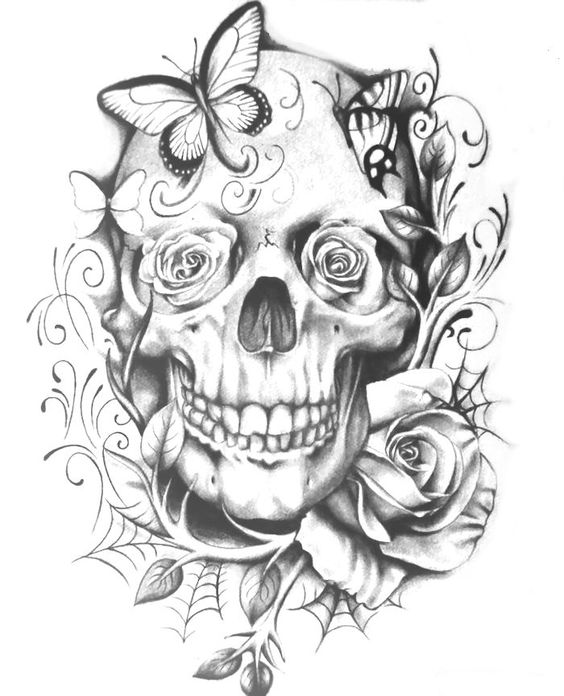 skull coloring page  adult coloring pages  pinterest