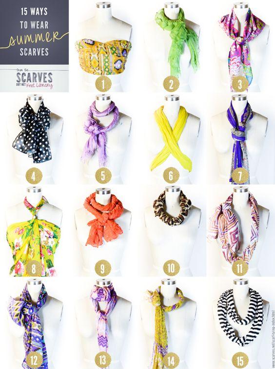 15 Ways To Wear Summer Scarves