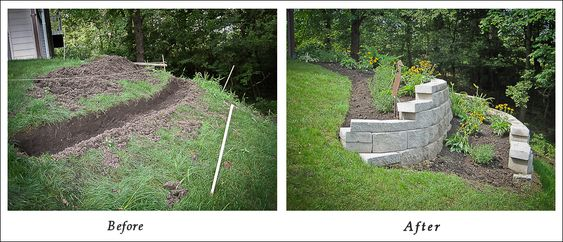 retaining walls plants and landscapes