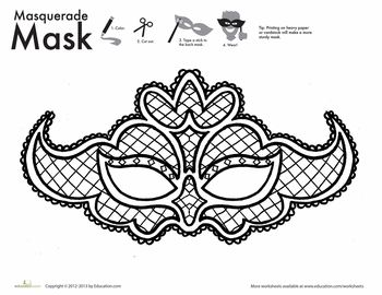 Lace mask, Lace and Coloring on Pinterest