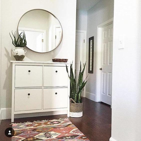 Hemnes, Shoe cabinet and Dark living rooms on Pinterest