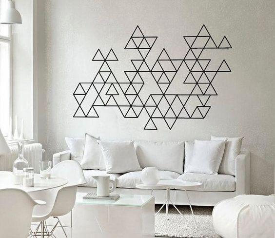 Decorando paredes com fita isolante - Reciclar e Decorar : decoração com ideias fáceis: