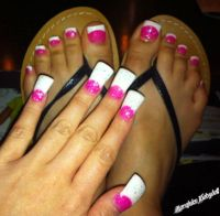 Look the fingernails and toenails match!   toes & fingers ...