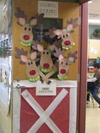 Reindeer Door Decoration Ideas | Reindeer Stable Door ...