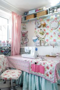 cath kidston filled sewing room A Cottage Chic Cath