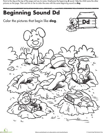 Coloring, Beginning sounds and Worksheets on Pinterest